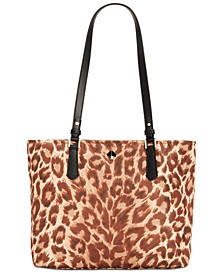 Taylor Leopard Medium Tote