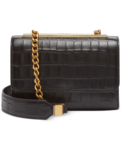 DKNY Cooper Leather Flap Crossbody, Created for Macy's