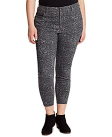 Adored Plus Size Animal-Print Skinny Jeans