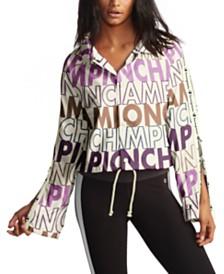 Champion Logo-Print Flared-Sleeve Coach's Jacket