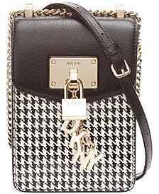 Elissa Houndtooth Leather Phone Crossbody, Created for Macy's