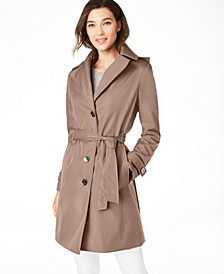 Belted Water-Resistant Trench Coat, Created for Macys