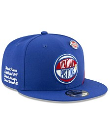 New Era Big Boys Detroit Pistons 2019 On-Court Collection 9FIFTY Snapback Cap