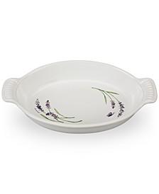 1.7-Qt. Oval Au Gratin with Lavender Appliqué