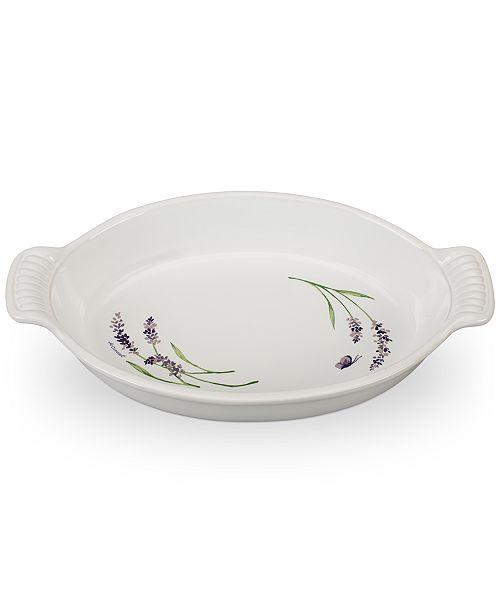 Le Creuset 1.7-Qt. Oval Au Gratin with Lavender Appliqué