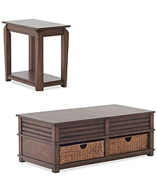 Strickland Table Furniture, 2-Pc. Set (Cocktail Table & Chairside Table)