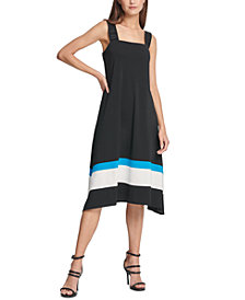DKNY Logo-Strap Colorblocked Dress