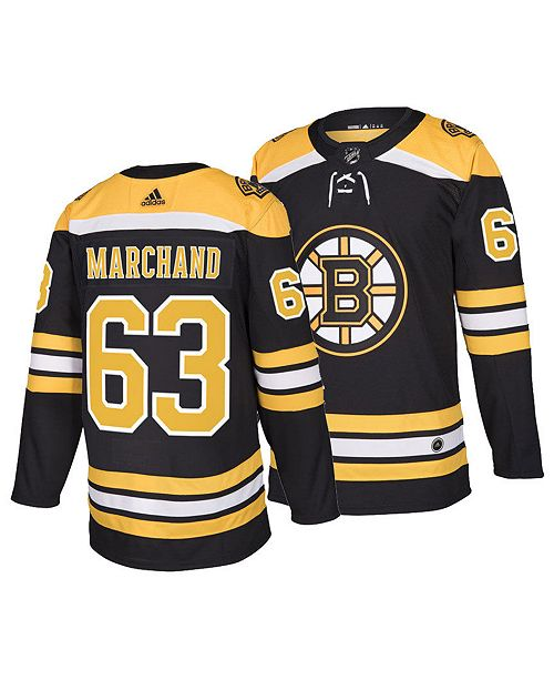 adidas Men's Brad Marchand Boston Bruins Authentic Player Jersey
