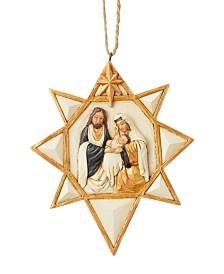 Jim Shore Black and Gold Nativity Ornament