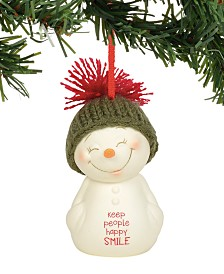 Department 56 Snowpinions Keep People Happy, Smile Ornament