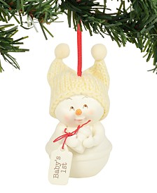 Department 56 Snowpinions Baby's First Christmas Ornament