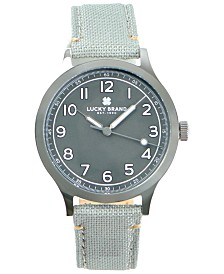Lucky Brand Men's Jefferson Grey Fabric Strap Watch 38mm
