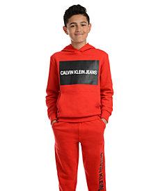 Calvin Klein Jeans Big Boys Institution Logo Fleece Hoodie