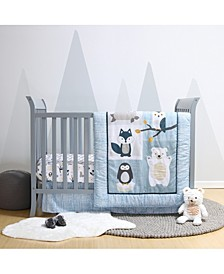 Nordic Wonder 4-Piece Crib Bedding Set