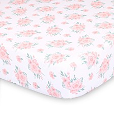 Farmhouse Floral Fitted Crib Sheet