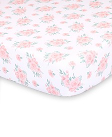 The Peanutshell Farmhouse Floral Fitted Crib Sheet