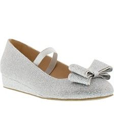 Badgley Mischka Little & Big Girls Terry Bow Ballet Flat
