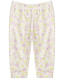 Baby Girls Cotton Floral-Print Jogger Pants, Created for Macy's