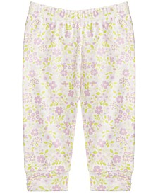 First Impressions Baby Girls Cotton Floral-Print Jogger Pants, Created for Macy's