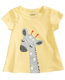First Impressions Baby Girls Giraffe-Print Cotton T-Shirt, Created for Macy's
