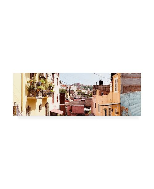 "Trademark Global Philippe Hugonnard Viva Mexico 2 Colorful Houses II Guanajuato Canvas Art - 36.5"" x 48"""