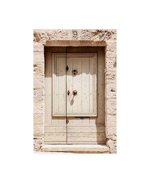 "Trademark Global Philippe Hugonnard France Provence Old Medieval Door Canvas Art - 27"" x 33.5"""