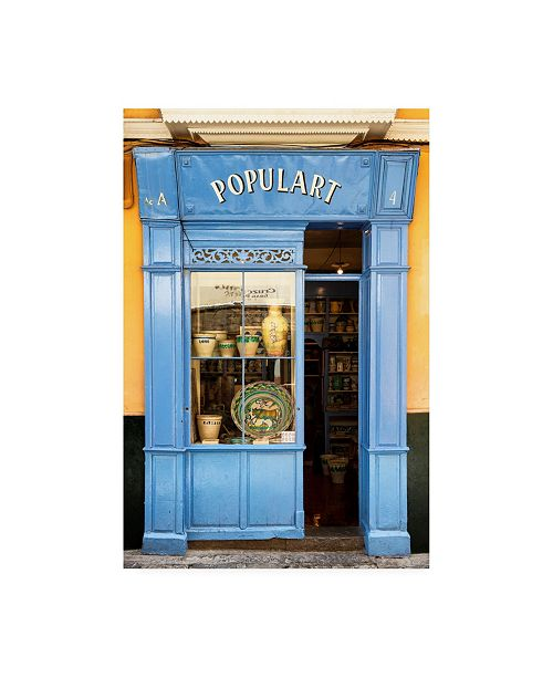 "Trademark Global Philippe Hugonnard Made in Spain Old Blue Shop Front Canvas Art - 36.5"" x 48"""
