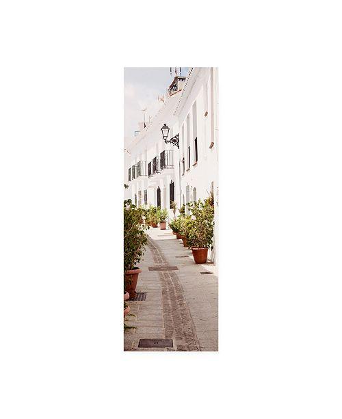 "Trademark Global Philippe Hugonnard Made in Spain 2 White City Street of Mijas IV Canvas Art - 19.5"" x 26"""