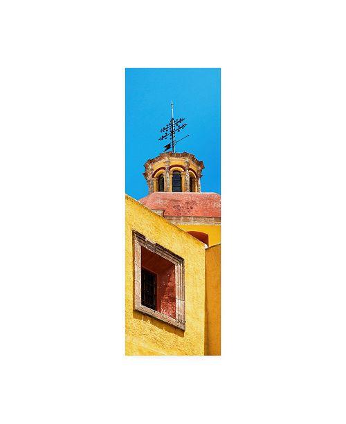 "Trademark Global Philippe Hugonnard Viva Mexico 2 Yellow Church Facade Canvas Art - 19.5"" x 26"""