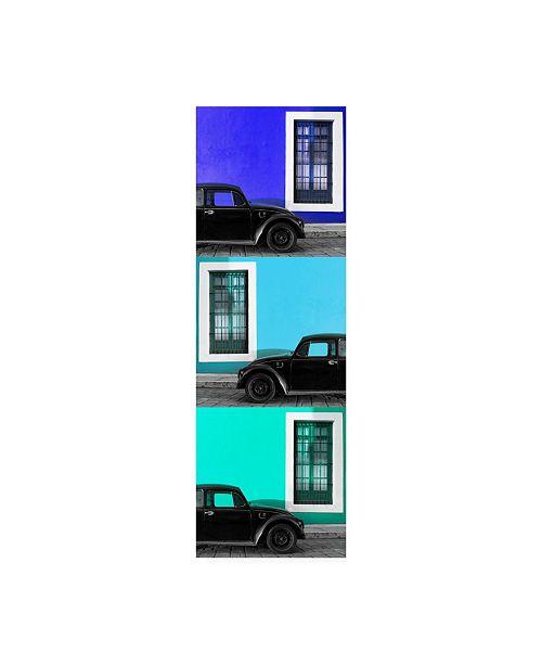 """Trademark Global Philippe Hugonnard Viva Mexico 2 Three Black VW Beetle Cars XVIII Canvas Art - 15.5"""" x 21"""""""