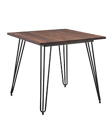 Industrial Steel Dining Table with Elm Wood Top