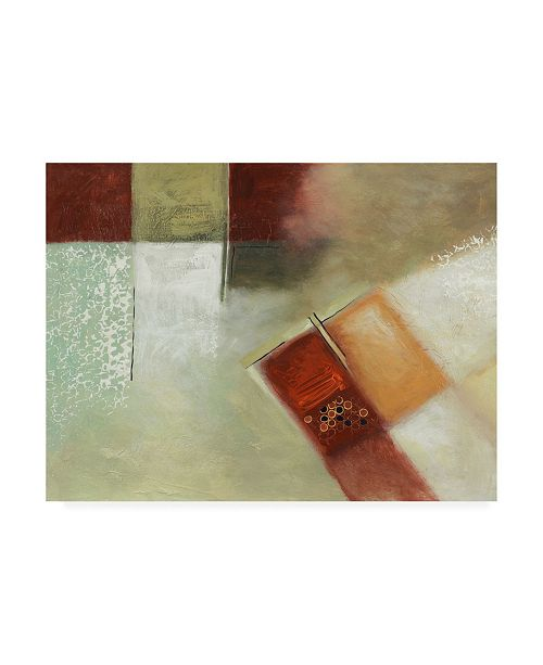 "Trademark Global Pablo Esteban Watered Down Squares with Circles Canvas Art - 36.5"" x 48"""