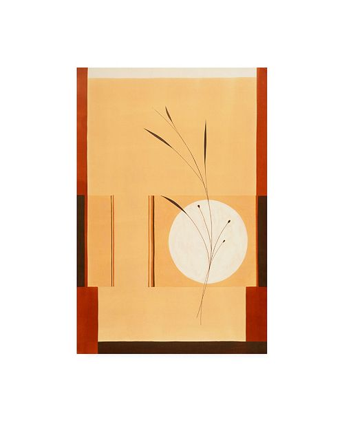 "Trademark Global Pablo Esteban Grass on Tan Squares Canvas Art - 27"" x 33.5"""