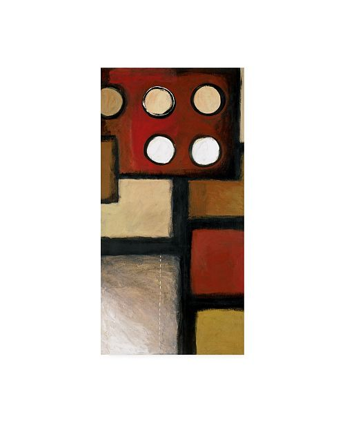 "Trademark Global Pablo Esteban Squares with Circles Abstract Canvas Art - 36.5"" x 48"""