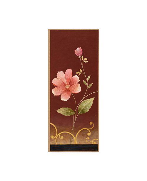 "Trademark Global Pablo Esteban Pink Flowers Canvas Art - 19.5"" x 26"""