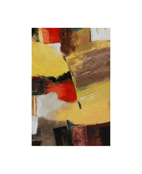 "Trademark Global Pablo Esteban Red Black Yellow Abstract Canvas Art - 15.5"" x 21"""