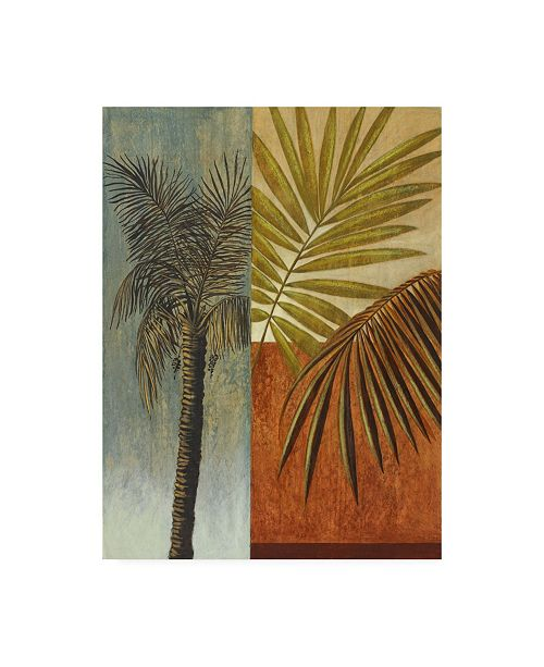 "Trademark Global Pablo Esteban Palm Trees and Fronds Canvas Art - 15.5"" x 21"""