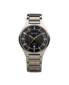Bering Men's Titanium Case and Multi Link Watch