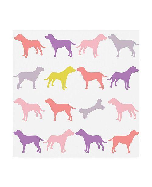 "Trademark Global Chariklia Zarris Animal Sudoku in Pink III Childrens Art Canvas Art - 19.5"" x 26"""