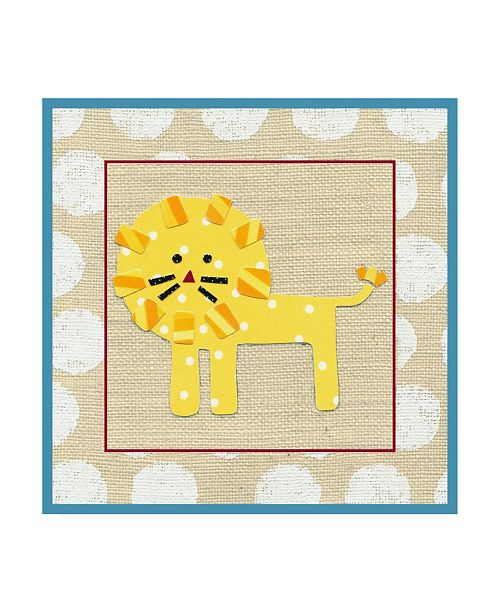 "Trademark Global Chariklia Zarris Katherines Lion Childrens Art Canvas Art - 36.5"" x 48"""