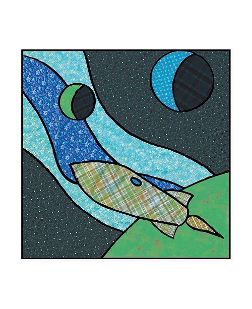 "Trademark Global Charles Swinford Patchwork Planets I Canvas Art - 15.5"" x 21"""