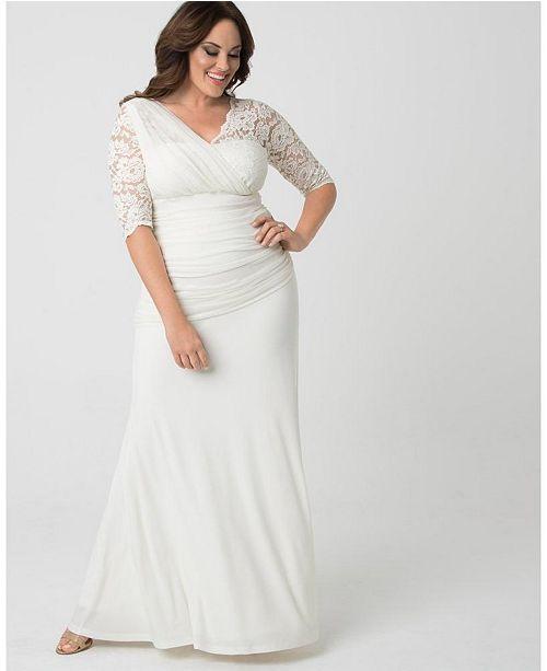 Kiyonna Women\'s Plus Size Elegant Aisle Wedding Gown & Reviews ...