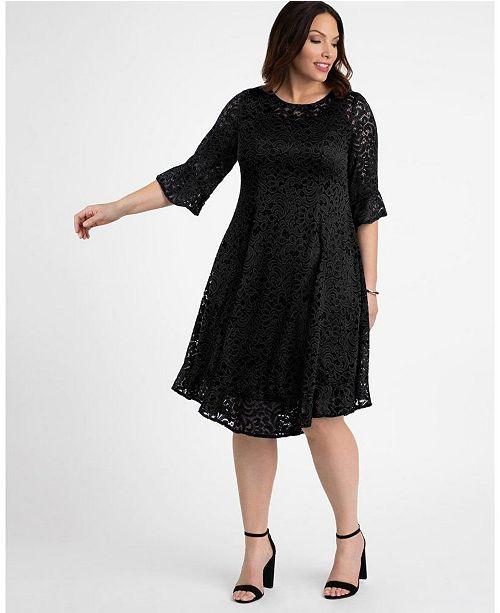 Kiyonna Women\'s Plus Size Livi Lace Dress & Reviews - Macy\'s