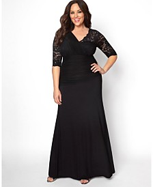 Kiyonna Women's Plus Size Soiree Evening Gown