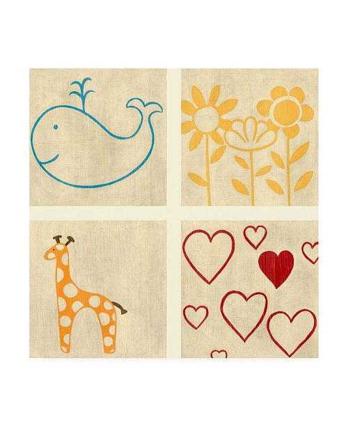 "Trademark Global Chariklia Zarris Best Friends Forever III Canvas Art - 15.5"" x 21"""