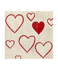"Chariklia Zarris Best Friends Hearts Canvas Art - 15.5"" x 21"""