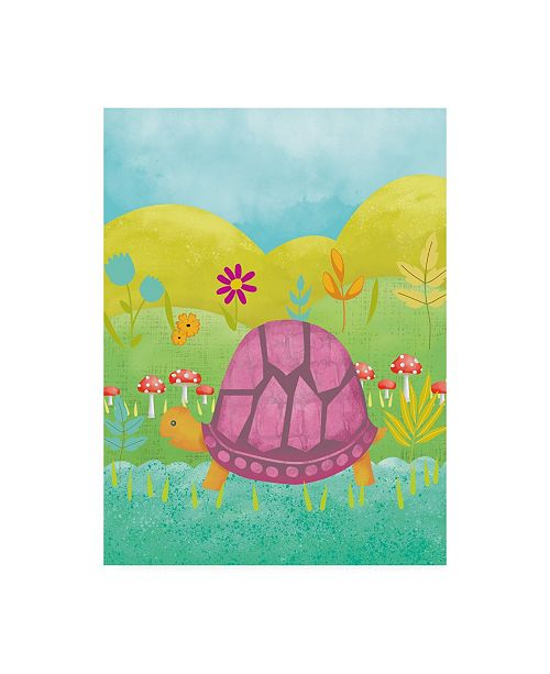 "Trademark Global Chariklia Zarris Happy Turtle II Canvas Art - 36.5"" x 48"""