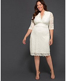 Women's Plus Size Luxe Lace Wedding Dress