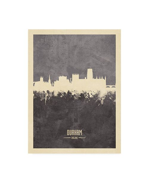 "Trademark Global Michael Tompsett Durham England Skyline Gray Canvas Art - 27"" x 33.5"""