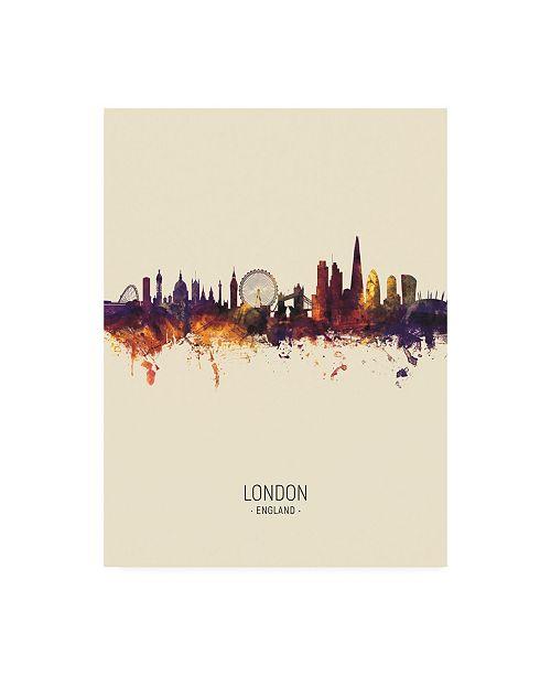 "Trademark Global Michael Tompsett London England Skyline Portrait III Canvas Art - 27"" x 33.5"""